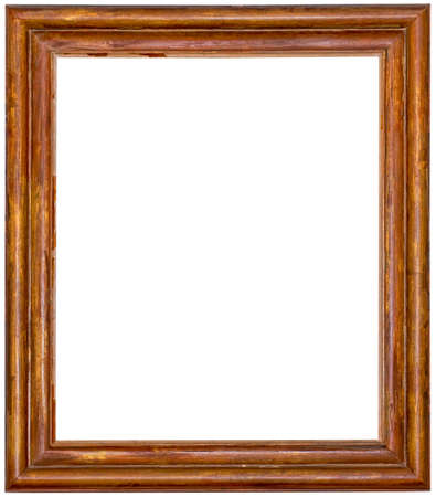 Old Worn Wooden Vintage Picture Frame Cutout Standard-Bild