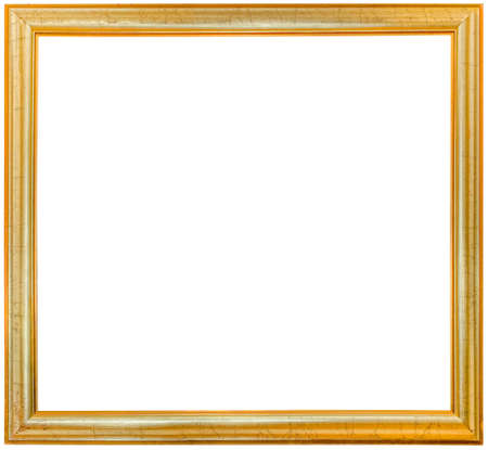Simple Golden Picture Frame Cutout