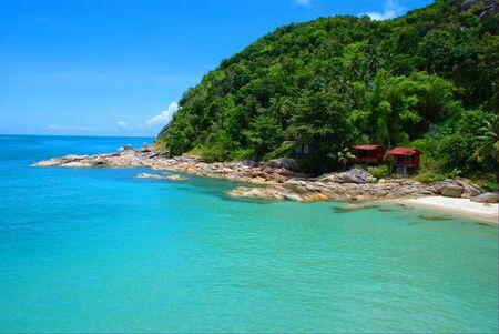 utopia: Deserted beach on Ko Phangan Thailand Stock Photo