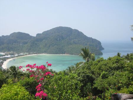 Vantage point of Ko Phi Phi island Thailand! photo