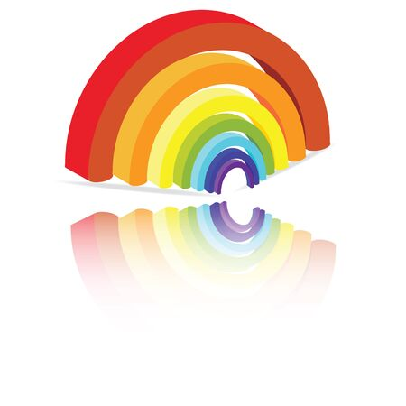 3d rainbow: illustration of a 3-D rainbow elements Illustration