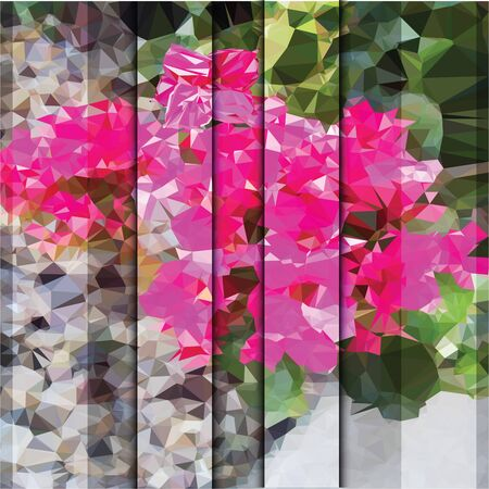 reconciliation: an absract, triangulated vector illustration of a flowers background with a shutters effect, space for editing