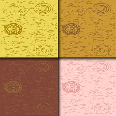 splinter: vector illustration background of four different wooden structured tiles, available to use separate or all together