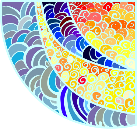 abstract vector illustration of a hand-drawn vitrage pattern