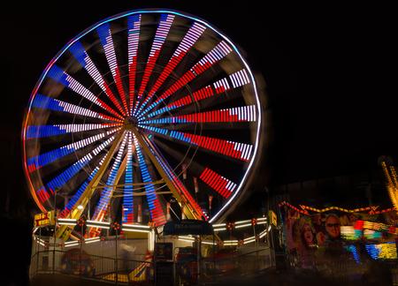Ferris wheel at night Editorial