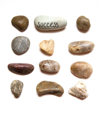 noteworthy: Concept of Success in Stone Layout Design Stock Photo