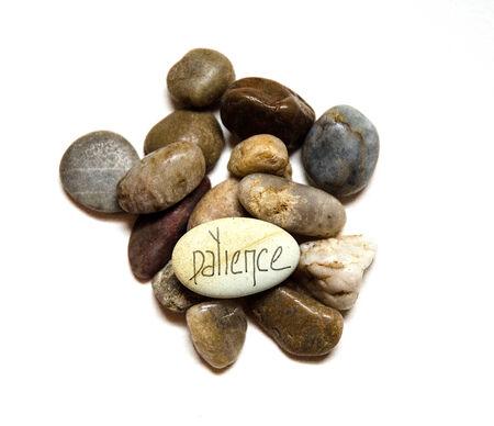 인내: Patience Concept on Stone Design