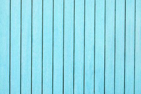 Light and bright blue green wood texture surface with natural pattern background, horizontal wood planks