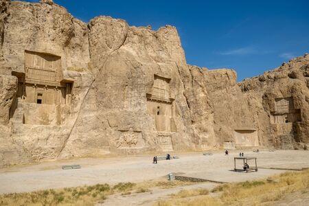 Landscape of famous landmark Naqsh-e Rustam or Rostam