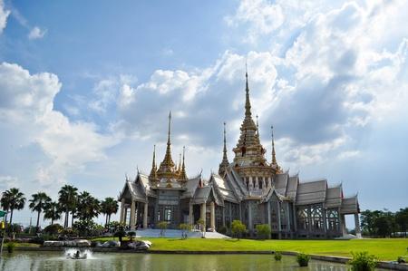 Thai Art White Tample photo