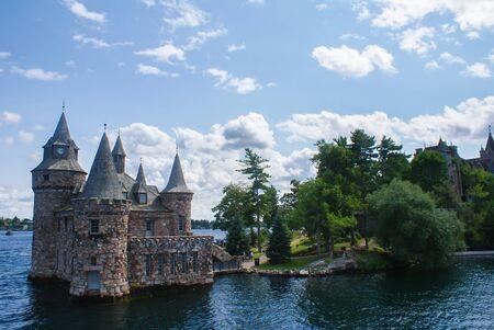 Sunny castle on the Thousand Islands, Canada