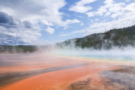 Yellowstone National Park prism hot spring