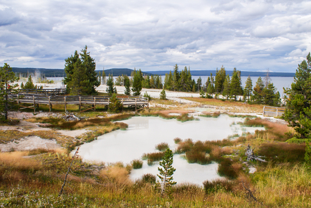 Yellowstone National Park is cloudy Stok Fotoğraf