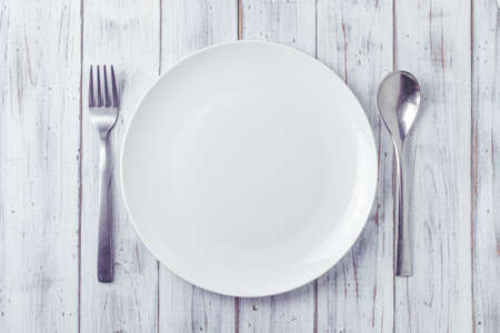 Plates, forks and spoons