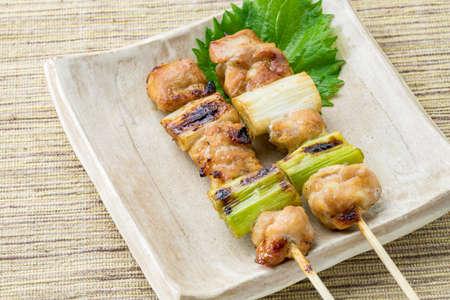 2 grilled chickens, negima