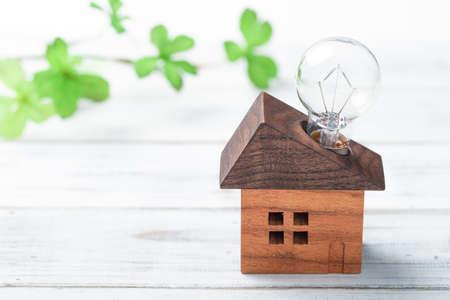 bulb on house