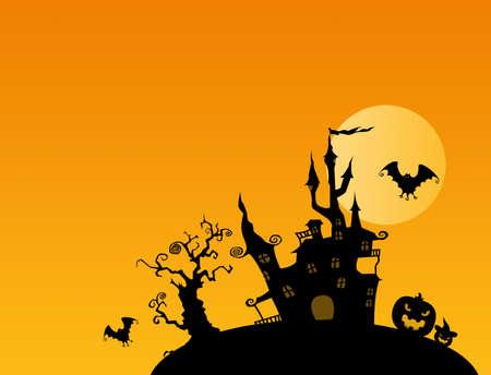 Halloween illustrations 写真素材