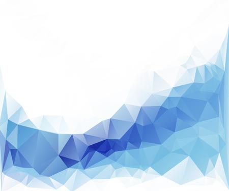 多角形のモザイクの背景、ベクトル図、ビジネス デザイン テンプレート