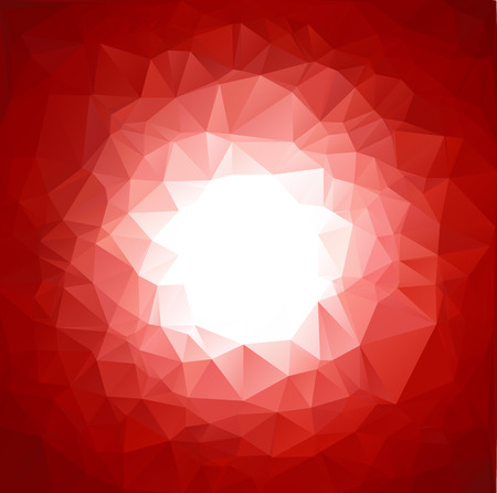 red vivid polygonal mosaic background, Vector illustration,  Business design templates Vector