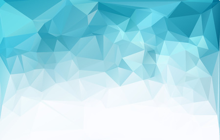 Blue Light Polygonal Mosaic Background, Vector illustration,  Business Design Templates 矢量图像