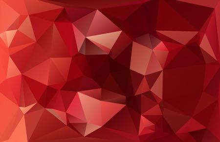 Red Light Polygonal Mosaic Background, Vector illustration,  Business Design Templates Vector