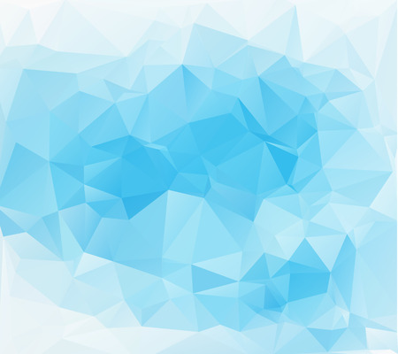 Blue White Light Polygonal Mosaic Background, Vector illustration,  Business Design Templates Vector