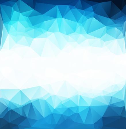 青白光多角形モザイクの背景、ベクトル図、創造的なビジネスのデザイン テンプレート