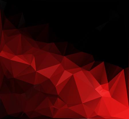 レッド ブラック ライト多角形モザイクの背景、ベクトル図では、創造的な芸術のビジネス デザイン テンプレート