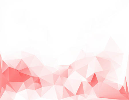Red White Light Polygonal Mosaic Background, Vector illustration,  Creative Art  Business Design Templates