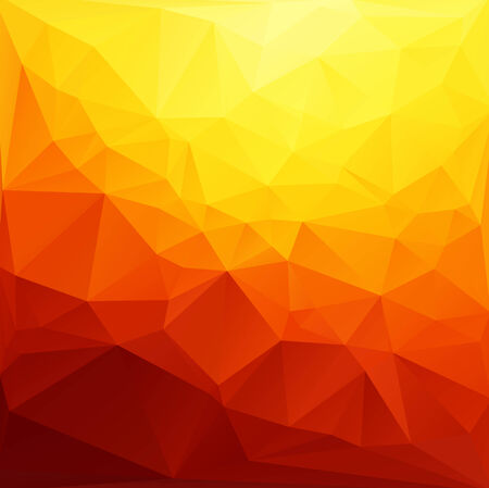 mosaic background: Orange Yellow Light Polygonal Mosaic Background, Vector illustration,  Creative Art  Business Design Templates Illustration