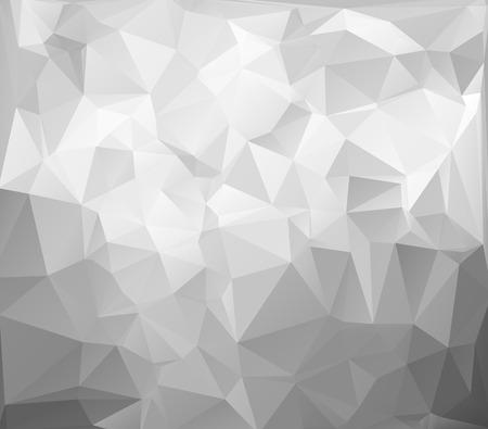 Grau, Weiß, Hell Polygonal Mosaik Hintergrund, Vektor-Illustration, Creative Business-Design-Vorlagen