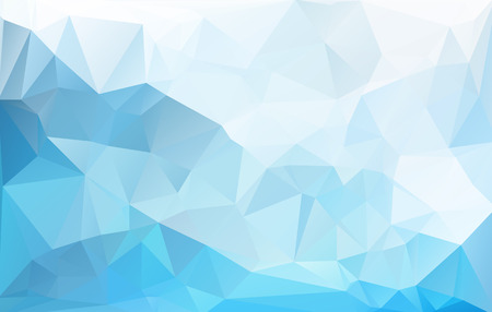 Blue White  Polygonal Mosaic Background, Vector illustration,  Creative  Business Design Templates Çizim