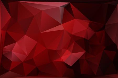 赤多角形モザイク背景、ベクトル図では、創造的なビジネスのデザイン テンプレート  イラスト・ベクター素材