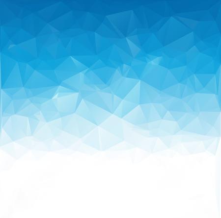 triangulo: Fondo azul del mosaico poligonal blanco, ilustraci�n vectorial, plantillas del dise�o del negocio creativo Vectores