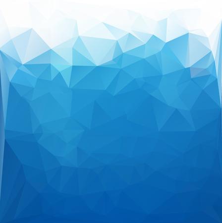 Fondo azul del mosaico poligonal blanco, ilustración vectorial, plantillas del diseño del negocio creativo Foto de archivo - 36107691