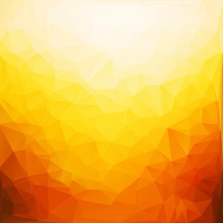 Orange Weiß Mehrkant Mosaik Hintergrund, Vektor-Illustration, Creative Business-Design-Vorlagen