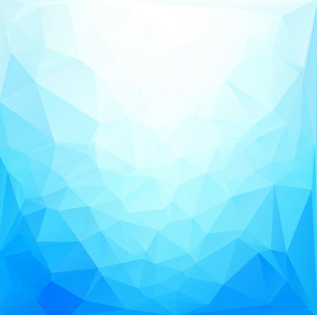 青白多角形モザイク背景、ベクトル図では、創造的なビジネスのデザイン テンプレート