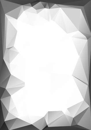 Gray White  Polygonal Mosaic Background, Vector illustration,  Creative  Business Design Templates Vector