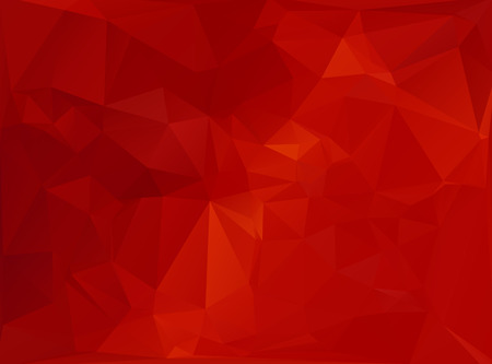 Rood Wit Polygonal mozaïek achtergrond, vector illustratie, Creative Business Design Templates Stock Illustratie