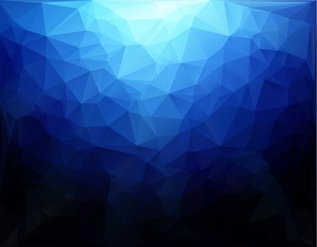 Blue Light Polygonal Mosaic Background, Vector illustration,  Creative  Business Design Templates
