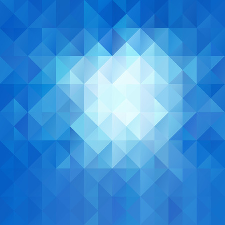Blue White Seamless Mosaic Background, Vector illustration,  Creative  Business Design Templates Vector