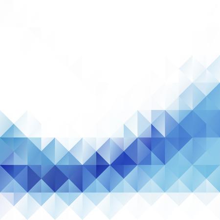 青白モザイク シームレスな背景、ベクトル図では、創造的なビジネスのデザイン テンプレート