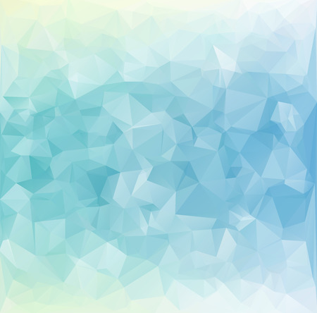 Blue White  Polygonal Mosaic Background