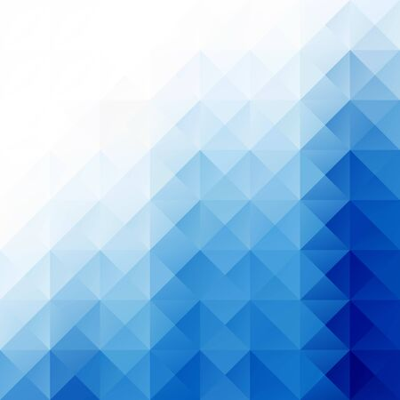 Blue Bright Mosaic Background, Creative Design Templates Vector