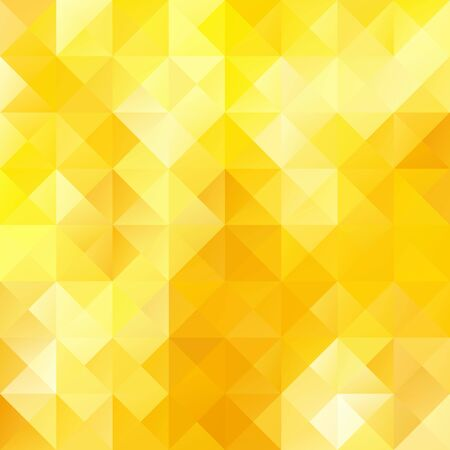 Yellow Bright Mosaic Background, Creative Design Templates Vector