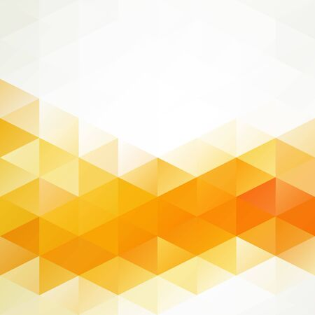 Orange Bright Mosaic Background, Creative Design Templates Vector