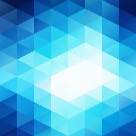 Blue White Bright Mosaic Background, Creative Design Templates Vector