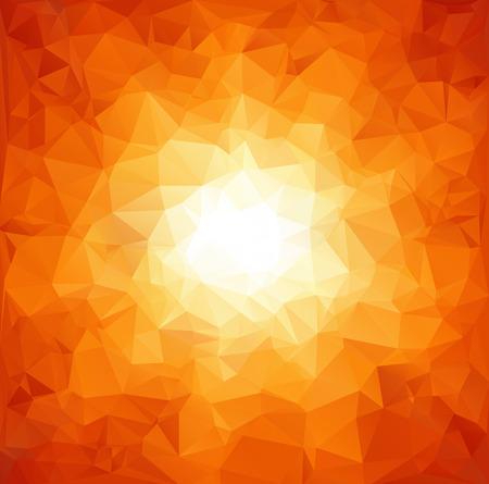 赤い多角形のモザイクの背景、創造的なデザイン テンプレート