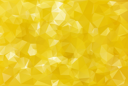 Yellow Polygonal Mosaic Background, Creative Design Templates
