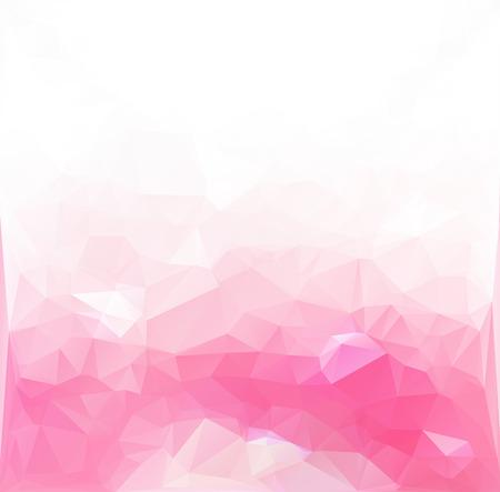 ピンクの多角形のモザイクの背景  イラスト・ベクター素材